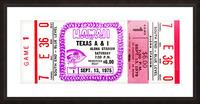 1975_College_Football_Texas A&I vs. Hawaii_Aloha Stadium Picture Frame print