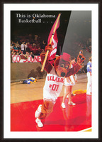 billy tubbs era top daug oklahoma sooners basketball poster prints on wood Picture Frame print