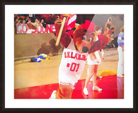 college mascot art top daug oklahoma sooners basketball art Picture Frame print