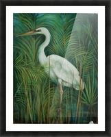 white heron 2 Picture Frame print