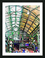 Roof Over Borough Market Picture Frame print