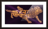 vintage college mascot art tcu horned frogs ft worth texas Picture Frame print