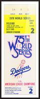 1978 world series la dodgers dodger stadium field box Picture Frame print