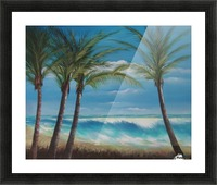 windy beach Picture Frame print