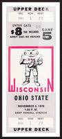 1978 ohio state wisconsin big 10 college football ticket art Picture Frame print