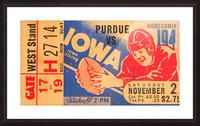 1940 Iowa vs. Purdue Picture Frame print