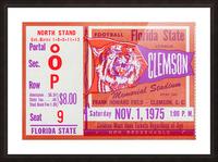 1975 Florida State vs. Clemson Picture Frame print