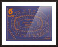 1979 Auburn Tigers Jordan Hare Stadium Map Picture Frame print