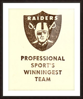 1983 Los Angeles Raiders Picture Frame print