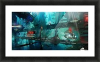 Future Noir - Abyss City Picture Frame print