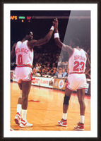 1985 Bulls High 5 Poster Picture Frame print