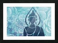 Buddha Mandala blue turqouise Picture Frame print