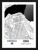 Kinshasa CONGO Picture Frame print