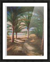Shady beach Picture Frame print