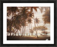 morning beach Picture Frame print