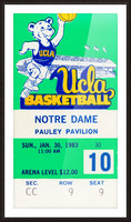1983 notre dame ucla bruins college basketball Picture Frame print