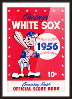 1956 chicago white sox score book canvas Picture Frame print