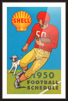 1950 shell oil football schedule poster Picture Frame print
