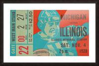1939 Michigan vs. Illinois Picture Frame print