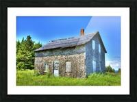 Toit bleu Picture Frame print