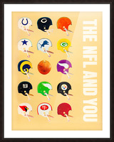 1963 vintage nfl helmets reproduction art Picture Frame print