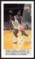1984 michael jordan north carolina poster Picture Frame print