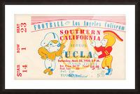 1950 usc ucla los angeles la coliseum college football sports art Picture Frame print