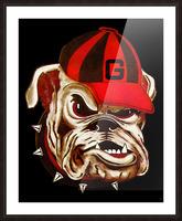 1966 Georgia Bulldog Picture Frame print