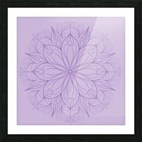 lilac mandala Picture Frame print