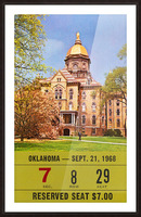 1968 oklahoma sooners notre dame college football south bend indiana sports tickets wall art Picture Frame print