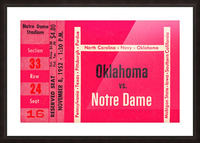 1952 Oklahoma vs. Notre Dame 1st National TV Game Picture Frame print