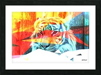 TIGER IN ABSTRACT FORM Picture Frame print