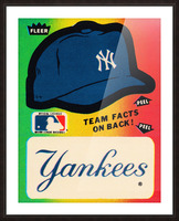 1982 fleer sticker new york yankees hat Picture Frame print