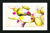 water color cactus flower Picture Frame print
