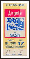 1981 california angels baseball ticket stub sports wall art Picture Frame print
