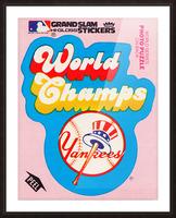 1979 fleer sticker new york yankees world champs poster Picture Frame print