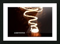 Fire  twist Picture Frame print