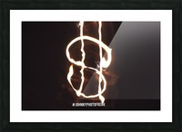 Money light painting fire Picture Frame print