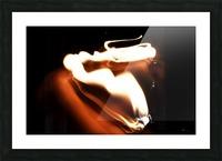 Fire Trail sculpture  Picture Frame print