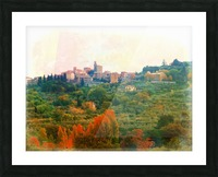 Panicale in Fall Picture Frame print
