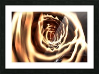 Fire tunnel Picture Frame print