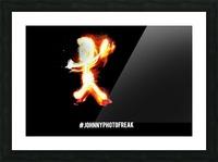 Fire Stickman Picture Frame print