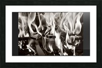 Black and white fire  Picture Frame print