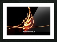 Fire leaf Picture Frame print