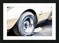 Old corvette  Picture Frame print