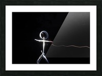 light stick man Picture Frame print