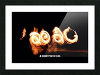 2020 Fire light painting Picture Frame print