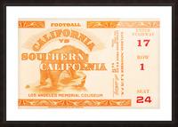 1938 cal bears usc trojans football ticket stub art la coliseum Picture Frame print