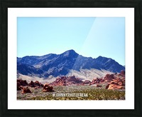 Canyon and mountain  Picture Frame print