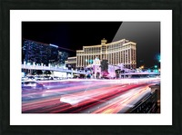 Las vegas night shot Picture Frame print